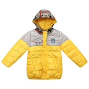 Richie House Little Boys Yellow Printed Hood Tribal Padding Jacket 2/3