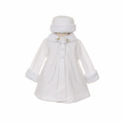 Kids Dream White Fleece Faux Fur Collar Stylish Coat Baby Girl 12M