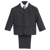 Lito Baby Boys Dark Grey Wedding Easter 5 Pcs Special Occasion Suit 12-18M