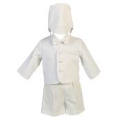 Lito Baby Boys White Cotton Plaid Eton Hat Shorts Christening Outfit Set 18-24M