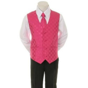 Kids Dream Fuchsia Chequered Vest Formal Special Occasion Boys Suit 18M
