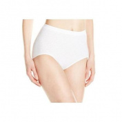 Bali Comfort Revolution 803J Barely Comfort Revolution Microfiber Seamless Brief White Damask Size 6 - 7
