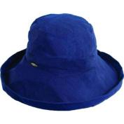 SCALA NEW Womens Cotton Big Large Brim Bucket Sun Hat w/ Inner Drawstrings