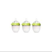 Comotomo Natural Feel 150ml Baby Bottle 3 Pack - Green