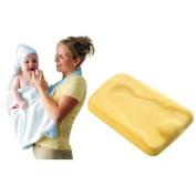 Summer Infant Comfy Bath Sponge with Splash and Wrap Baby Bath Towel, White