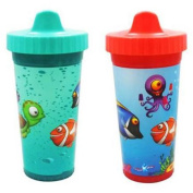 USA Kids UnderSea Fish Insulated Sippy Cups, BPA-Free, 2-Pack