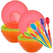 Munchkin 6-Pack Soft-Tip Infant Spoons with 10 Pack Multi Bowl Set