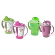 Born Free Grow with Me 180ml Training Cup & Straw Cup Set, Pink