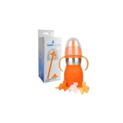 The Safe Sippy 2 2-in-1 Sippy to Straw Bottle with Replacement Parts, Orange