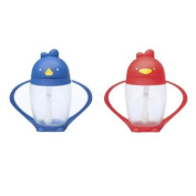 Lollacup Infant And Toddler Straw Cup, 2 Pack - Blue/Red