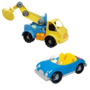 Battat Take-A-Part Crane & Roadster Exclusive Combo Pack