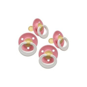 Gerber First Essentials Soft Centre Latex Pacifier, 4 Pack - Pink