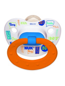 NUK Baby Talk Puller Pacifier in Assorted Colours and Styles, Boy, 0-6 Months