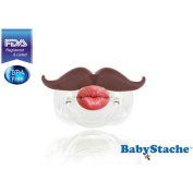BabyStache Kissable Barber Pacifier, Brown