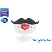 BabyStache Kissable Barber Pacifier, Black