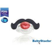 BabyStache Kissable Professional Pacifier, Black