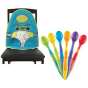 Baby's Journey Portable BabySitter with Munchkin 6 Pack Soft-Tip Infant Spoon