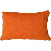 Nook Sleep Systems PIL-PEB-POP Pebble Queen Size Pillow - Poppy Bright Orange