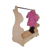 Ace Baby Furniture MCRNM1018 Rabbit Mobile Dress-Up Clothes And Shoes Organiser, Natural Maple
