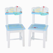 Guidecraft G88203 Sailing Extra Chairs - Set of 2