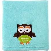 Pinwheel Applique Owl Blanket