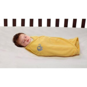 Little Bedding by NoJo Elephant Time Swaddle Blanket, Yellow