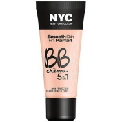 NYC New York Colour Smooth Skin BB Creme 5 in 1 Skin Perfector, Light, 30ml