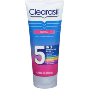Clearasil Ultra 5-in-1 Exfoliating Acne Medication Wash, 200ml