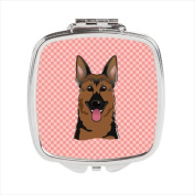 Carolines Treasures BB1211SCM Checkerboard Pink German Shepherd Compact Mirror, 2. 75 x 3 x . 7.6cm