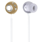 QFX Lightweight Stereo Earbuds-Brown