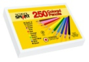 School Smart 3.3 mm. Thick Tip Non-Toxic Pre-Sharpened Waterproof Coloured Pencil Classroom Pack - 7 L in. - Pack 250