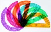 School Smart 15cm . Plastic Learning Resources 0-180 Deg Protractor