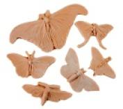 Sax Butterflies And Moth Nature Impression Set Tan Set - 6