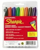 Sharpie 30007 Fine Point Permanent Markers Brown