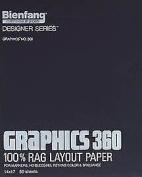 Bienfang 316-121 23cm X 30cm . No.360 Graphic Layout Paper 50 Sheet