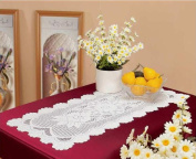 Tapestry Trading 558I1670 41cm x 180cm . European Lace Table Runner Ivory