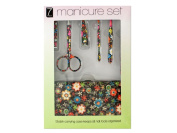 Bulk Buys OD495-16 Manicure Set With . Floral Carrying Case