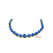 Fine Jewellery Vault UBUNKBK7205Y14S Sapphire Graduated Bead Necklace in 14K Yellow Gold 30 CT TGW September Birthstone Jewellery