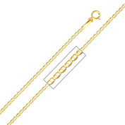 Precious Stars SEC0271180 Yellow Gold 1.4 mm. Mariner Chain 18 in. Necklace