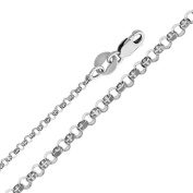 Precious Stars SEC0229160 White Gold 1.6 mm. Classic Rolo Chain 16 in. Necklace