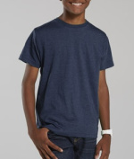 LAT L6105 Youth Vintage Fine Jersey T-Shirt - Vintage Navy Extra Small