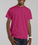 LAT L6105 Youth Vintage Fine Jersey T-Shirt - Vintage Hot Pink Medium
