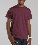 LAT L6105 Youth Vintage Fine Jersey T-Shirt - Vintage Burgundy Small