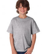 FOL 3930B Youth Heavy Cotton T-Shirt Athletic Heather Small