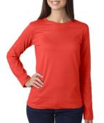 LAT 3588 Ladies Long Sleeve Crewneck T-Shirt Fire Extra Large