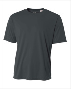 A4 NB3142 Youth Cooling Performance Crew - Graphite Medium