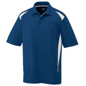 Augusta 5012A Adult Premier Sport Shirt - Navy & White Medium