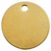 C.H. Hanson 337-1078B 2.5cm . Dia x 0.5cm . Hole Round Brass Blank Tag