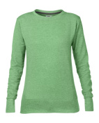 Anvil 72000L Womens Mid Scoop French Terry Fleece - Heather Green Extra Large