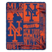 Northwest NOR-1MLB031020019RET 130cm x 150cm . New York Mets MLB Light Weight Fleece Blanket Strength Series